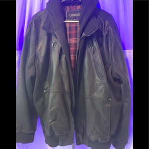 Guess vegan leather jacket never worn